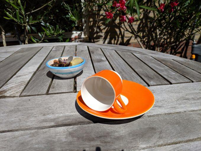 Pagnossin Special Production 701 Treviso Italy. Espresso kop en schotel oranje. 3