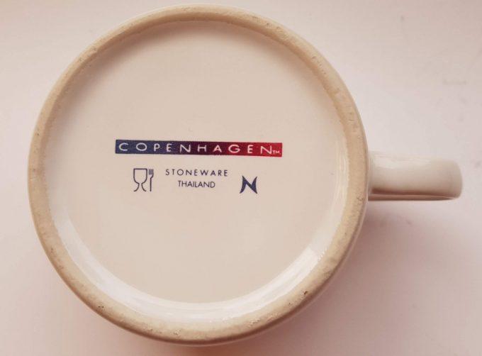 Copenhagen Stoneware. Thailand. Kop en schotel met bloemmotief. Per set van 5 6