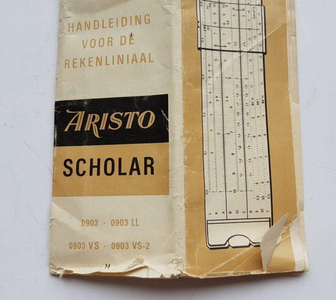 Aristo scholar 0903LL Germany. Aristo rekenliniaal in cassette met gebruikershandleiding. 3
