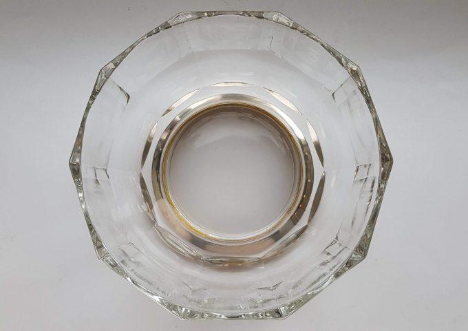 Made in Italy.  Glazen schaal met zilveren voet. 3