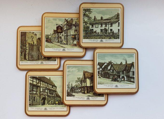 Pimpernel United Kingdom. Six Traditional Coasters / Engelse Herbergen/ Kroegen. 2
