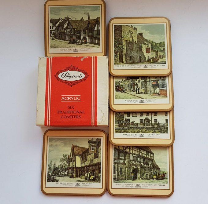 Pimpernel United Kingdom. Six Traditional Coasters / Engelse Herbergen/ Kroegen. 1