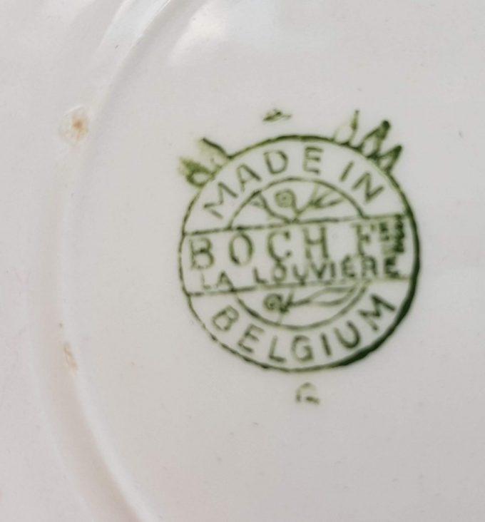 Boch La Louviér Made in Belgium. Gebaksschaal met fruitmotief. 3