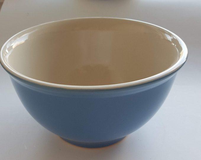 Union Pacific Tableware, Beslagkom, schaal. Kleur wit/blauw 1