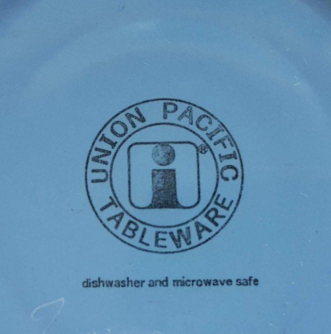 Union Pacific Tableware, Beslagkom, schaal. Kleur wit/blauw 2