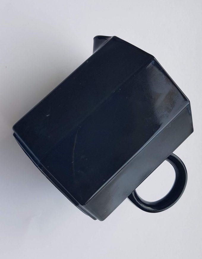 Arcoroc Octime France. Melkkannetje zwart met oortje. Per stuk. 2