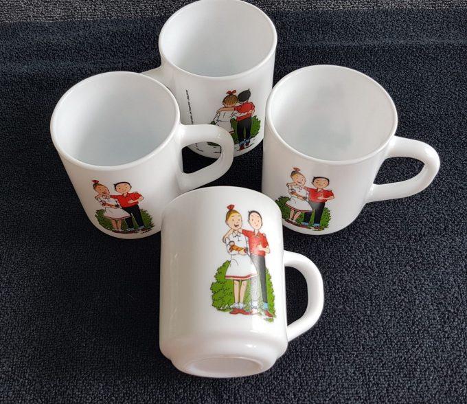 Arcopal France. Suske en Wiske beker. Geperst wit glas. Standaard Uitgeverij Antwerpen 1995. Dixan. Per stuk. 1
