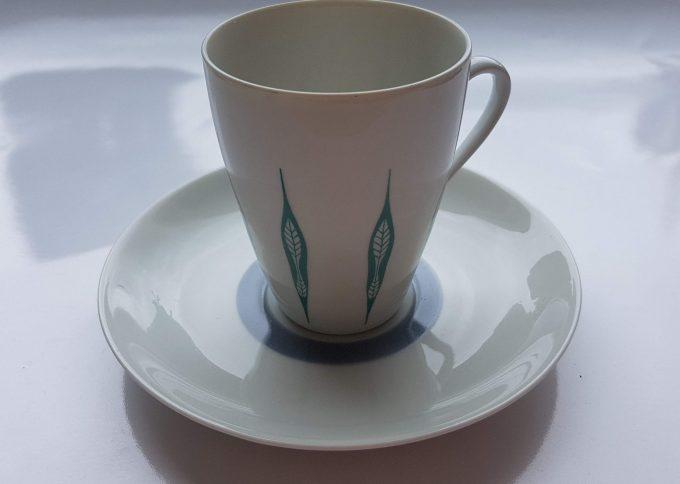 Mosa Maastricht 3111G. Koffie kop en schotel. Vier kleuren.  Per set van 4. 4