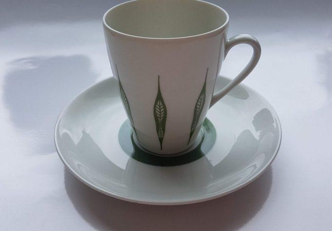 Mosa Maastricht 3111G. Koffie kop en schotel. Vier kleuren.  Per set van 4. 5