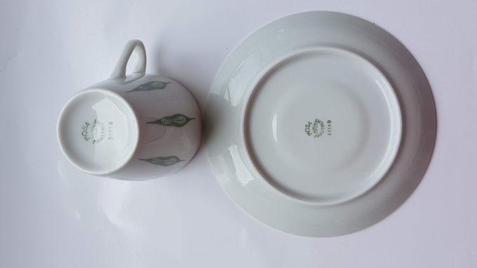 Mosa Maastricht 3111G. Koffie kop en schotel. Vier kleuren.  Per set van 4. 6