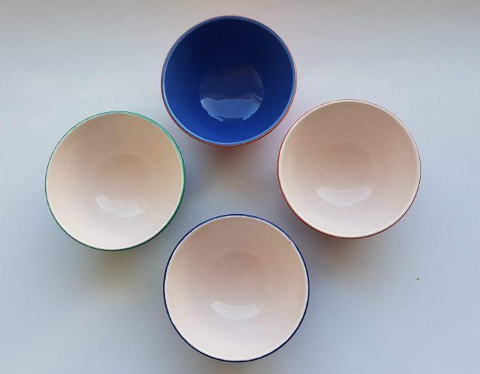 P Italy, Pagnossin.  Schaaltjes  /bowls 4 kleuren. Per set van 4 2