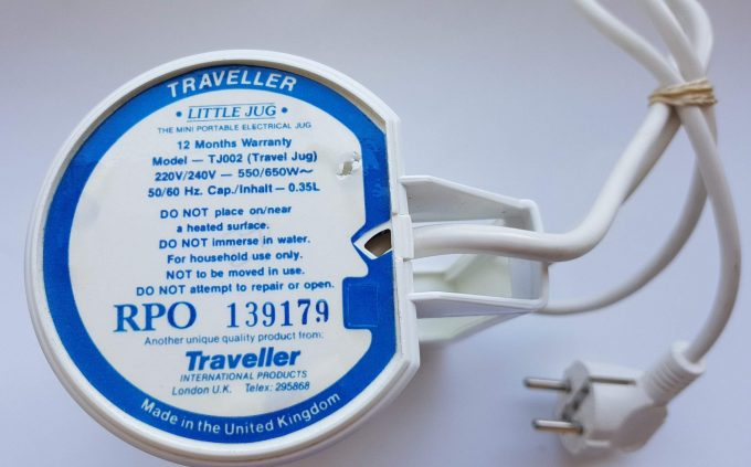 "Traveller Model Tj002. RPO 139179 Made in the United Kingdom. ""Litte Jug"". Mini portable electric jug. Theezet waterkoker. 2"