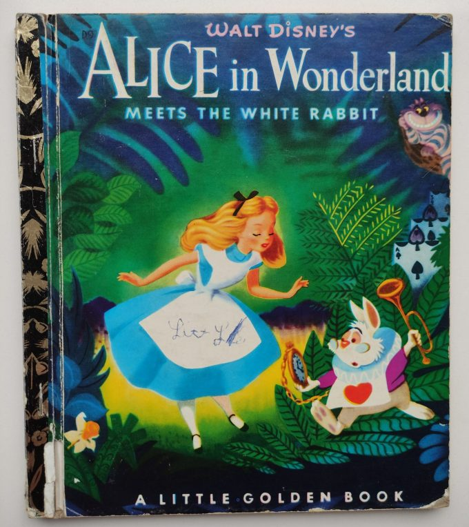 Little Golden Books: Alice in Wonderland meets The White Rabbit. 1