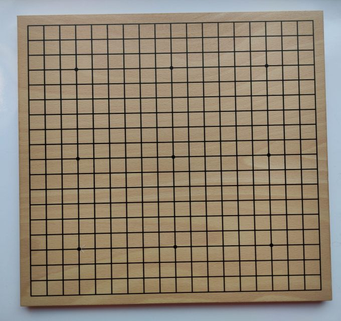 HOT Sports bordspel 728000. Original G0-Set klein. Dubbelzijdig bord beuken fineer. 4
