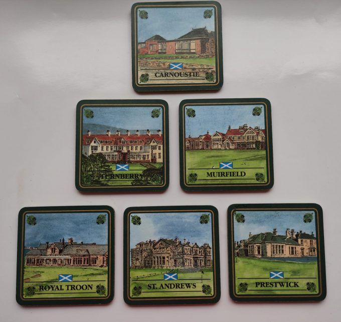 EGP Sports. The Scottish Collection. Coasters /onderzetters. Golf Courses of Scotland. 2