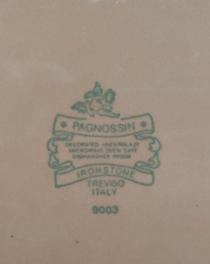 Pagnossin  9003. Ironstone Treviso Italy. Borden plat zalmkleur. 24cm. Per set van 4. 3