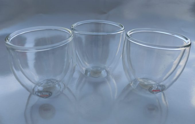 Bodum. Made in Switzerland. Pi-Design. Espresso glas dubbelwandig. Mondgeblazen glas. Per set van 3 2