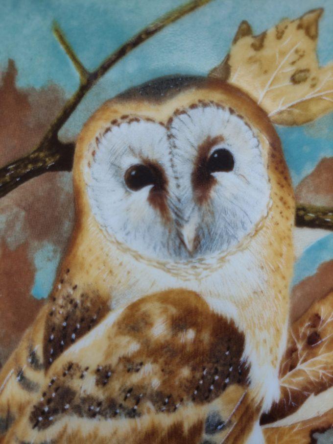 "Coalport. Made in England. Michael B. Sawdy. Wandbord / sierbord ""Barn Owl"". Plate Number 34690 / 1989. 2"