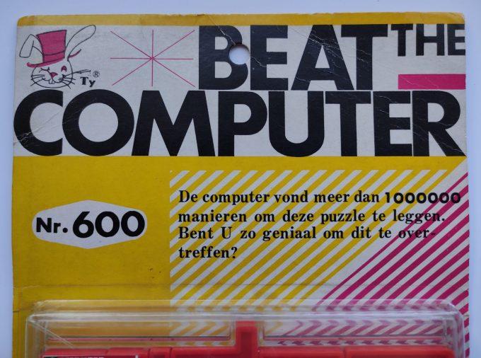 A. Yamada 1969. Beat The computer nr. 600 . PLA Puzzle. 11 x 19 cm. 35 stukjes. In originele verpakking. 2