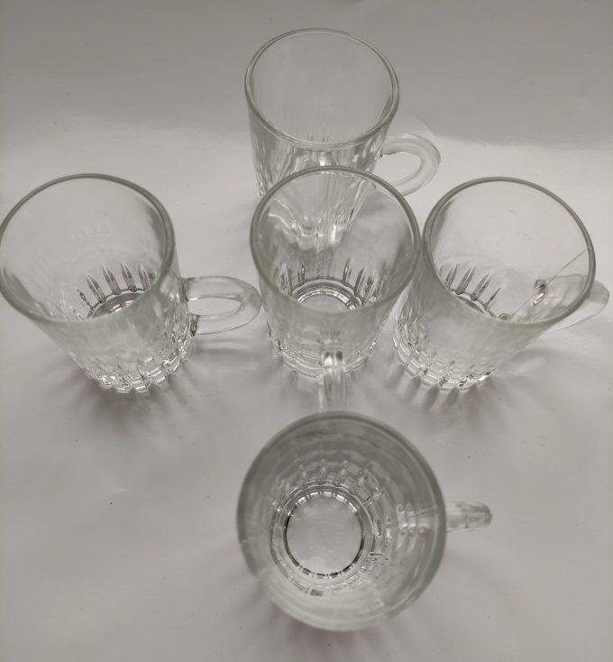 Made in Italy. Ristretto glaasjes met handvat .Per stuk. 2