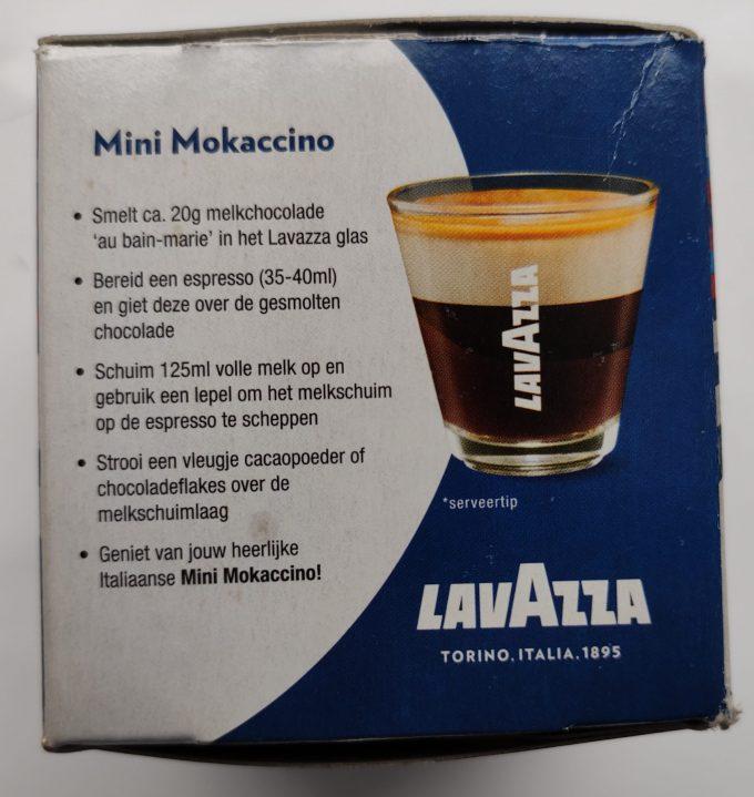 Lavazza, Torino. Italia 1895. Espresso glas. Per set van 2 2