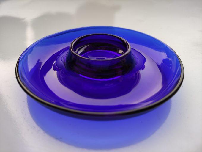 Vereco France. Kobalt blauw glas. Eierdopjes. Per stuk. 1