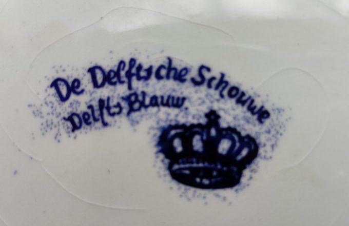 Stad Beringen. Sierbord / Wandbord. Delfts Blauw Wit. De Delftsche Schouwe. Afbeeldingen o.a. Steenkoolmijn. 2